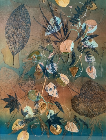 Ombre/Leaves and Pods by Julie Kring